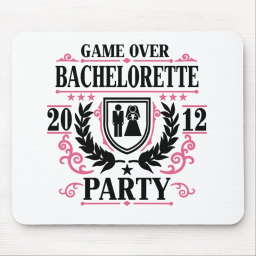 Bachelorette Party Game Over 2012 Mouse Pads