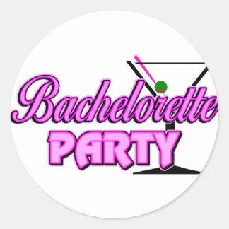 Bachelorette Party Gift Round Sticker
