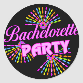 Bachelorette Party Gift Round Sticker