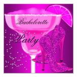 Bachelorette Party Hot Pink purple Shoes 13 Cm X 13 Cm Square Invitation Card