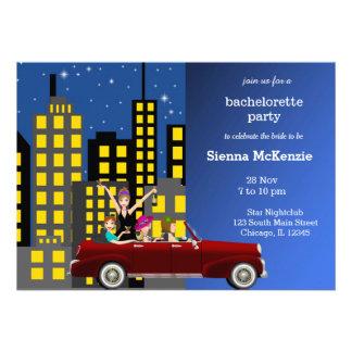 Bachelorette party personalized announcements