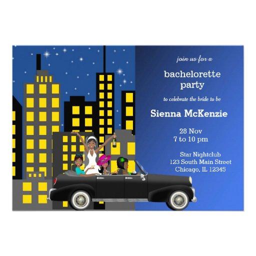 Bachelorette party personalized invite