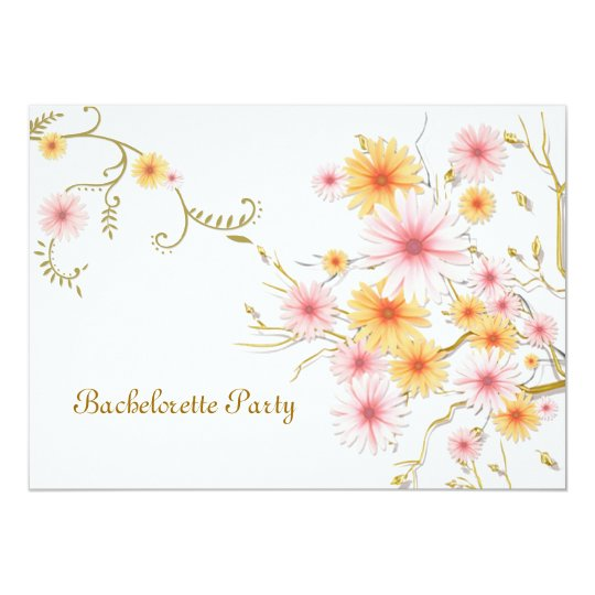 Bachelorette party Invitation card - daisy flowers