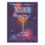 Bachelorette party invitation design postcard