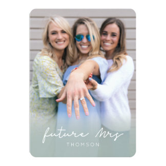 Bachelorette Party Invitation | Future Mrs | Green