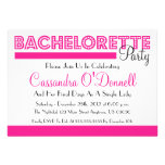 Bachelorette Party Invitations (Pink In Lights)
