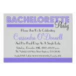 Bachelorette Party Invitations (Purple In Lights)