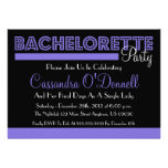 Bachelorette Party Invitations (Purple In Lights)