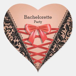 Bachelorette Party Lace Damask Lingerie Corset Sticker