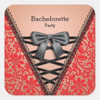 Bachelorette Party Lace Lingerie Corset Stickers