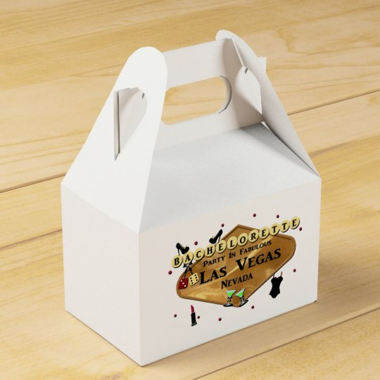 BACHELORETTE PARTY Las Vegas GABLE Favour Box