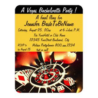 Bachelorette Party Las Vegas Style 11 Cm X 14 Cm Invitation Card