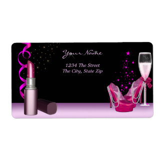 Bachelorette Party Lipstick Pink Shoes Champagne