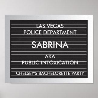 Bachelorette Party Mug Shot Slates Poster