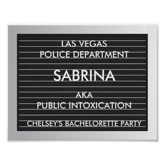 Bachelorette Party Mug Shot Slates Poster