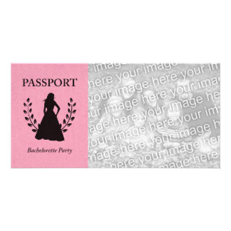 bachelorette party passport photo card template