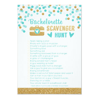 Bachelorette Party Photo Scavenger Hunt Game Card