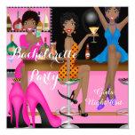 Bachelorette Party Pink Blue Shoe High Heels Shoe 13 Cm X 13 Cm Square Invitation Card