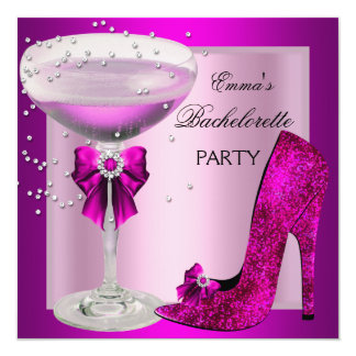 Bachelorette Party Pink Champagne Card