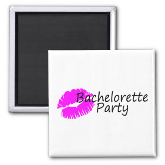 Bachelorette Party (Pink Kiss) Square Magnet