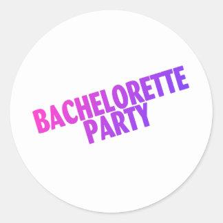 Bachelorette Party Pink Purple Stickers