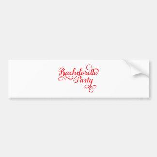 Bachelorette Party, pink word art, t-shirt design Car Bumper Sticker