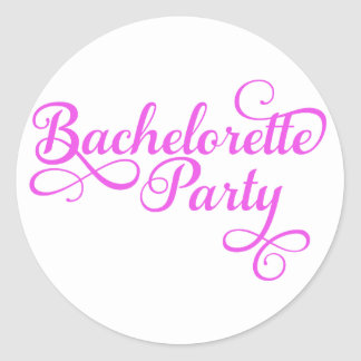 Bachelorette Party, pink word art, text design for Sticker
