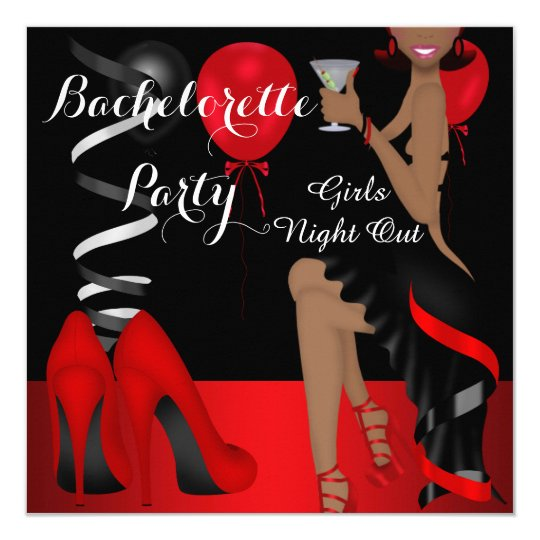 Bachelorette Party Red Black Shoe High Heels 2