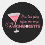 Bachelorette Party Round Sticker