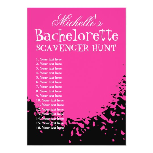 Bachelorette party scavenger hunt template list