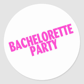 Bachelorette Party Slanted Pink Stickers