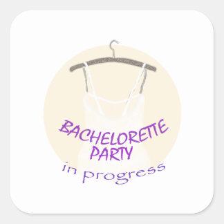 Bachelorette Party Square Sticker
