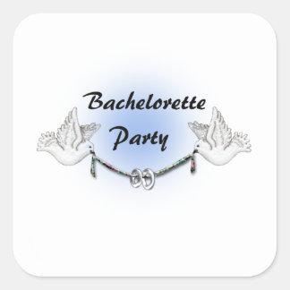 Bachelorette Party Square Stickers