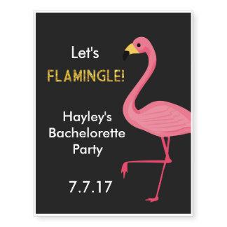 Bachelorette Party Tattoos- Let's Flamingle!