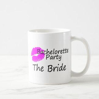 Bachelorette Party The Bride Pink Kiss Mug
