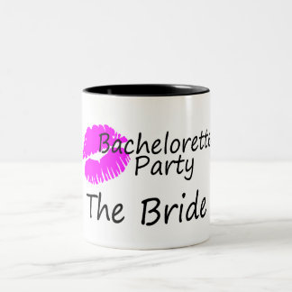 Bachelorette Party The Bride Pink Kiss Coffee Mugs