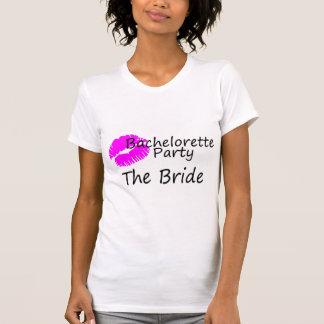 Bachelorette Party The Bride Pink Kiss T-Shirt