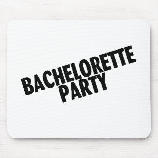 Bachelorette Party Wedding Black Mousepad