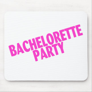 Bachelorette Party Wedding Pink Mousepad