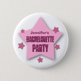 BACHELORETTE PARTY with STARS Custom Grunge V08 6 Cm Round Badge