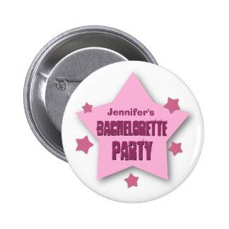 BACHELORETTE PARTY with STARS Custom Grunge V08 6 Cm Round Badge