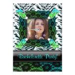 Bachelorette Party Zebra Jewellery Photo Invite BG
