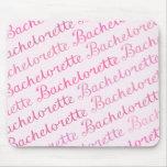 Bachelorette Script Diagonal Repeat Pattern Pinks Mousepad