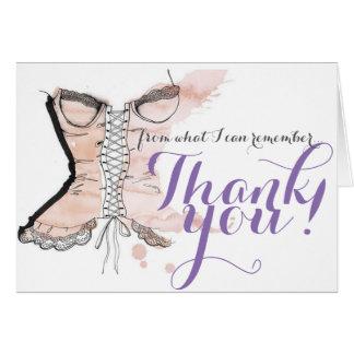 Bachelorette Thank You Note Card