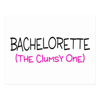 Bachelorette The Clumsy One Postcard