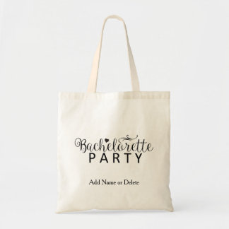 Bachelorette Tote Budget Canvas Tote Bag
