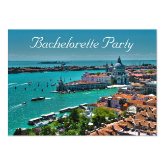 """Bachelorette Venetian-Style Party Invitation 5"""" X 7"""" Invitation Card"""