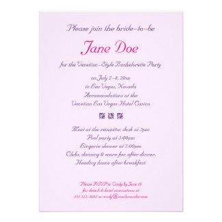 Bachelorette Venetian-Style Party Invitation