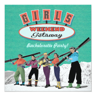Bachelorette Weekend Getaway Party Invitations