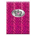 Bachelorette Zebra Jewellery Crown Party Invite 13 Cm X 18 Cm Invitation Card